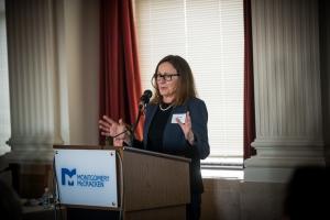 Linda Peyton speaking at Phila Health Partnership