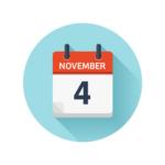 Nov 4 calendar icon